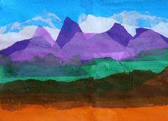 landscape artists for kids | Kids Artists: Landscape of tissue paper