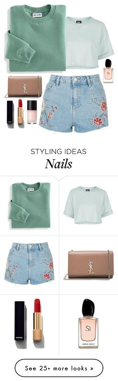 """""""Sommer Ferien"""" by elly01 on Polyvore featuring Topshop, Blair, Yves Saint Laurent, Chanel and Armani Beauty"""