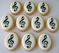 Music Note Mini Sugar Cookies 2 Dozen by acookiejar on Etsy, $33.95
