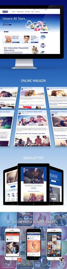 Konzeptentwicklung und Umsetzung von Lifestyle- und Expertenartikel auf der NIVEA Webseite, kombiniert mit Vermarktung der Inhalte auf Social Media Plattformen und gezieltem Newsletter Marketing. Nivea, Social Media Plattformen, Online Magazine, Content Marketing, Website, Inbound Marketing