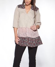 Loving this Toasted Yangste Tunic on #zulily! #zulilyfinds