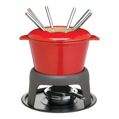 Kitchen Craft Master Class Cast Iron Enamelled Red Fondue Set ** Want to know more, click on the image. (Amazon affiliate link)