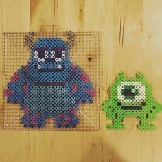 Monsters, Inc. perler beads by - Monsters, Inc. perler beads by - Perler Bead Designs, Perler Bead Templates, Hama Beads Design, Diy Perler Beads, Perler Bead Art, Pearler Beads, Melt Beads Patterns, Pearler Bead Patterns, Perler Patterns