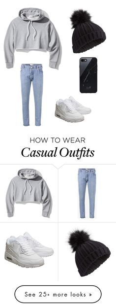 """Winter casual"" by laeney55 on Polyvore featuring RE/DONE, Frame, NIKE, Miss Selfridge and Sefton"