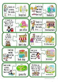 Puzzle - English ESL Worksheets for distance learning and physical classrooms English Worksheets For Kids, English Lessons For Kids, Kids English, English Activities, Learn English, Preschool Activities, Preschool Social Skills, English Games For Kids, French Lessons