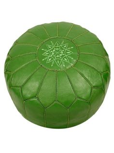 Hotel Marrakeche Moroccan Leather Pouf Ottoman, Green, http://www.myhabit.com/