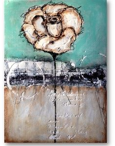 Grunge Rose | Mixed Media Painting – Nika in Wonderland Mixed Media Tutorials