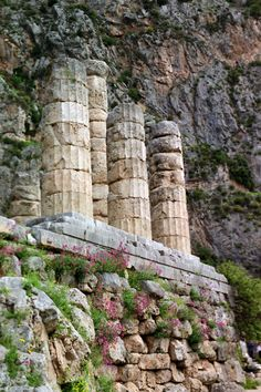 Sanctuary of Delphi and columns of the Temple of Apollo.  Remember the silence and perfect peace.