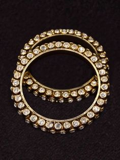 White Kundan Stone Paired Bangle - for more follow my Indian Fashion Boards :)