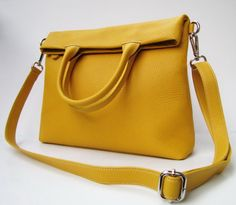 Hey, I found this really awesome Etsy listing at https://www.etsy.com/listing/189814184/golden-yellow-oversized-foldover-bag