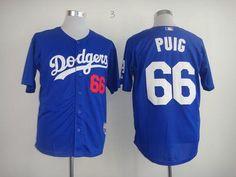 5eabd209753 Dodgers  66 Yasiel Puig Light Blue Cool Base Stitched MLB Jersey Dodgers  Jerseys