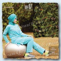 Baju SPORT Qirani Fresh QDF-07 Hijau Toska Misty