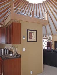 20' yurt interior with loft - Google Search