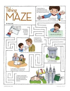 Tithing maze: Great for this week's Sharing Time