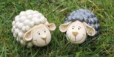 Wolkenschaf - Schaf Keramik Gartenkeramik von Britt-Keramik - Gartenkeramik & mehr auf DaWanda.com