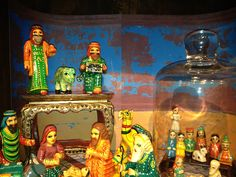 Gorgeous nativity sets from India.