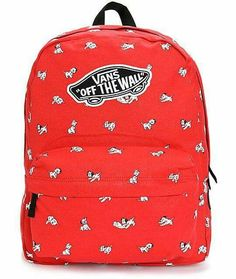 Get spotted with this Disney and Vans collaborative backpack made with a red canvas exterior covered in a Dalmatians print and a roomy storage compartment for all your gear and gadgets. Vans Backpack, Backpack Bags, Fashion Backpack, Action Sport, Vans Bags, Disney Vans, Rucksack Bag, Vans Off The Wall, Heart For Kids