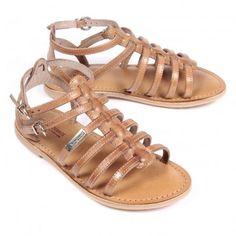 LES TROPEZIENNES beige leather sandals, perfect for summer