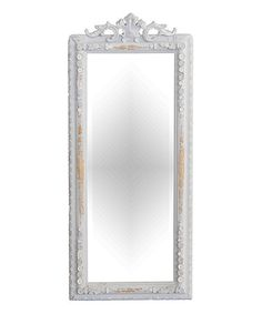 Look what I found on #zulily! Hand-Carved Painted French Mirror #zulilyfinds