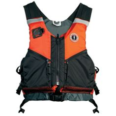 Mustang Shore Based Water Rescue Vest - XS/S - Orange/Black