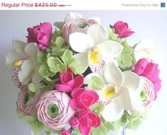 Spring Sale 50% OFF Handmade Clay Wedding Bouquet  Hot by parsi