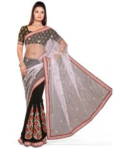 Charming Half & Half Saree Item code : SUTI130  http://www.bharatplaza.com/new-arrivals/sarees/charming-half-half-saree-suti130.html