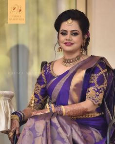 Check out some of the latest bridal blouse designs 2020 for weddings that are by the brand padma nandivada official. Blouse Back Neck Designs, Black Blouse Designs, Bridal Blouse Designs, Saree Blouse Designs, South Indian Wedding Saree, Indian Bridal, Indian Blouse, Most Beautiful Indian Actress, Stylish