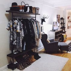 This gorgeous studio apartment was beautifully decorated including our large black faux deer head, The Ignatius! Thanks to @tobebright for sharing!