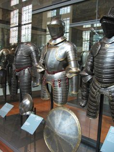 Suits of armor at Les Invalides, Paris, France.