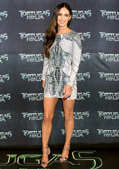 Megan Fox sizzled in a mini Zuhair Murad dress at the Teenage Mutant Ninja Turtles premiere in Mexico City. Her legs are out of this world!
