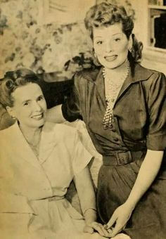 Lucille Ball and her mother