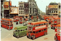 Postcrossing - View of 15 buses at Piccadilly Circus in At that time, the second world war had only been over for four years and very few people could afford to own a private car. Card sent by Postcrosser in Great Britain. London Bus, Old London, Northern Ireland Troubles, Road Transport, London Architecture, Piccadilly Circus, Punk Princess, Double Decker Bus, Famous Landmarks
