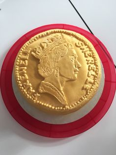 Coin cake Money Cake, Coins, Personalized Items, Food, Rooms, Essen, Meals, Yemek, Eten