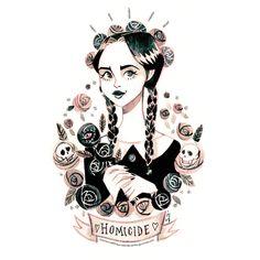 ☾ Wednesday ☽ Art Print