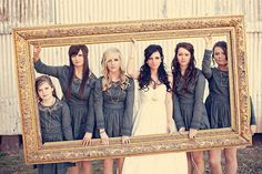 Really like long sleeve bridesmaids dresses!! Never thought of that! Perfect for a fall wedding..