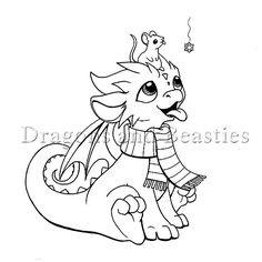 Just another dragon. Trying to keep up with inktober and build up some pics for the coloring book! Little Dragon, Cartoon Sketches, Drawing Sketches, 3d Drawings, Inktober, Dragon Coloring Page, Fairy Coloring, Cartoon Dragon, Baby Drawing