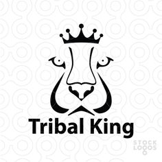 Attractive logo design of a lion face with the crown in abstract and unique…