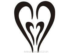 Airbrush tattoo stencil V010 Airbrush Tattoo, Tattoo Stencils, Adhesive, Tattoos, Design, Patterns, Tatuajes, Tattoo