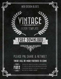 Download the Free Vintage Chalkboard Flyer PSD Template - Free Flyer Templates & PSD Club Flyer Design - Download Freebies on FreePSDFlyer