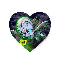 #party - #VAM BARAKA ROUND STICKER Monster HEART STICKER M