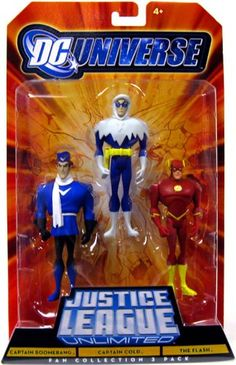 DC Universe Justice League Unlimited Fan Collection Action Figure 3Pack Captain Boomerang, Captain Cold & The Flash Justice League http://www.amazon.com/dp/B0034TQ9TA/ref=cm_sw_r_pi_dp_HZDMtb0H8RY2E1PG