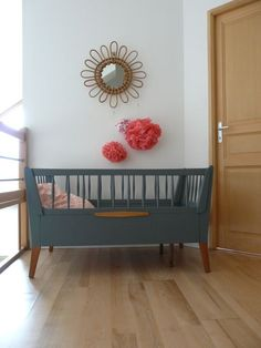 lit-bébé-vintage-escamottable-1 #interiordesign
