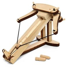 If you read our posts on Mini Weapons of Mass Destruction, you've most likely started some kind of office warfare that's still going. The Desktop Wooden Woodworking For Kids, Woodworking Projects, Woodworking Jointer, Cnc Router, Build Your Own Desktop, Office Warfare, Geek Toys, Cnc Projects, Wood Toys