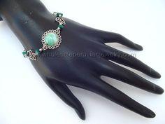 Sky-Blue Murano Glass Inca Bracelet http://www.wholesaleperuvianjewelry.com