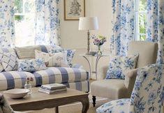 blue shabby chic living room - Pesquisa Google