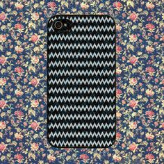 Chevron Black And Silver Glitter for iPhone 4, iPhone 4s, iPhone 5 /5s/5c, Samsung Galaxy S3, Samsung Galaxy S4 Case
