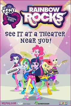 A new Equestria Girls film is heading to theaters on 9/27/14! Rainbow Rocks is a fun, musical adventure. Save the Date!