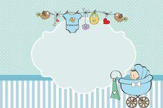 Convites de chá de bebê ou chá de fraldas gratuitos para imprimir - Dicas pra Mamãe