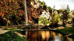 by Arantxa Barrachina There are places that we never suspect might exist until they are discovered. Salto de la Novia, located in Navajas, Castellón (Spain) is one of them. This beautiful landscape… Beautiful Landscapes, Places To Travel, Waterfall, Hiking, Country Roads, River, Island, Explore, Amor