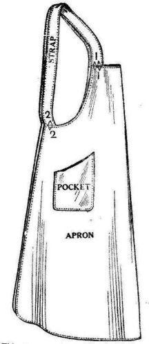 Pellon Copy 1921 Ladies' Misses' Vintage Apron Pattern LRG | eBay I can make this pattern myself